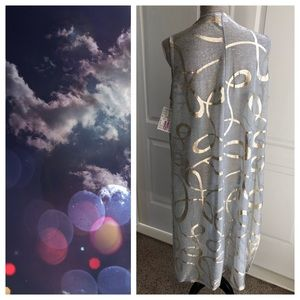 LuLaRoe Jackets & Coats - NWT LuLaRoe Elegant Joy in Gold and Silver